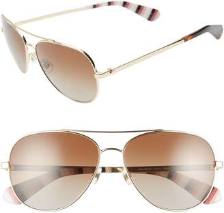 4268a7e1f7a Kate Spade Avaline 2 58mm Polarized Aviator Sunglasses