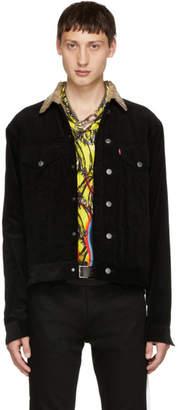 Christian Dada Black Narrow Wale Rotatory Jacket