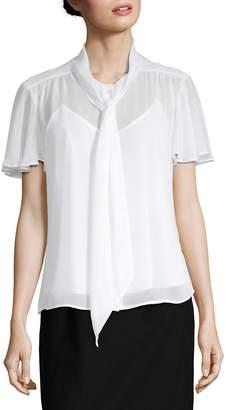 Calvin Klein Women's Tie-Neck Blouse