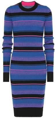 Maison Margiela Striped wool midi dress