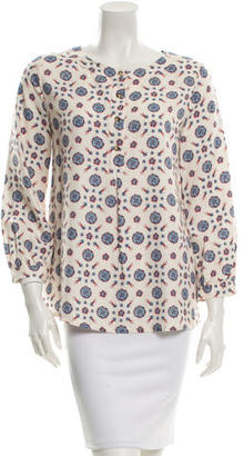 A.P.C. Long Sleeve Printed Top $65 thestylecure.com