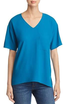 Eileen Fisher V-Neck Pocket Top