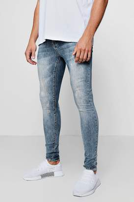 boohoo Super Skinny Jeans With Back Pocket Embroidery