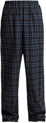 Balenciaga Brushed-cotton checked trousers