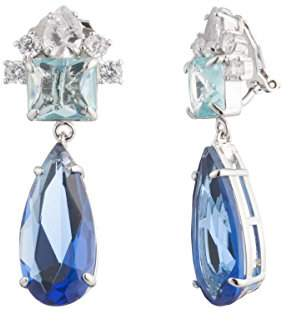 Carolee Women's Ocean Blues-Ec-Clip Pear Drop Clip Earrings