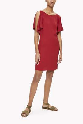 Theory Red Silk Dress