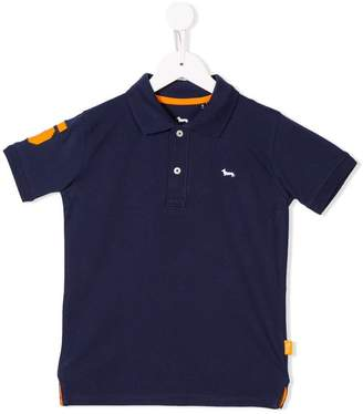 Harmont & Blaine Junior number patch polo shirt