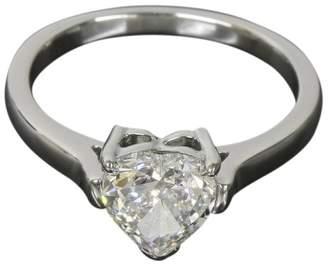 Tiffany & Co. 950 Platinum 1ct. Heart Cut Diamond Ring Size 5.5