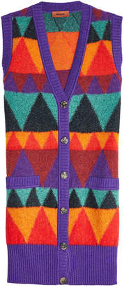 Missoni Buttoned Vest with Mohair, Alpaca and Wool