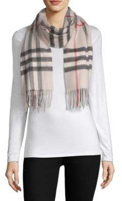 Burberry Stone Giant Check Cashmere Scarf
