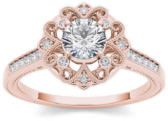 MODERN BRIDE 1/2 CT. T.W. Diamond 14K Rose Gold Engagement Ring