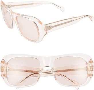 Celine 56mm Special Fit Transparent Wrap Sunglasses