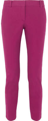 Theory Cotton-blend Twill Slim-leg Pants - Pink