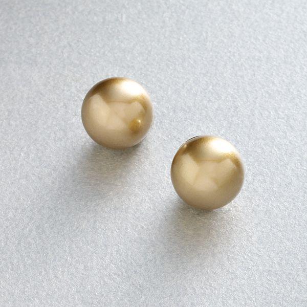 Trifari® gold-tone simulated pearl stud earrings