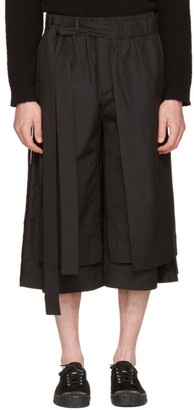 Craig Green Black Layered Track Shorts $535 thestylecure.com