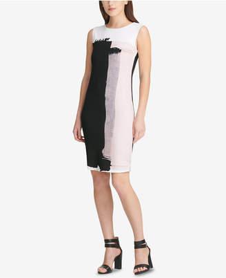 DKNY Paint Streak Sheath Dress