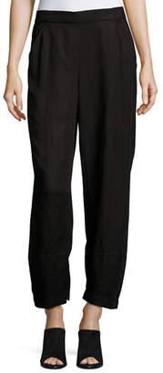 Eileen Fisher Linen-Blend Lantern Ankle Pants