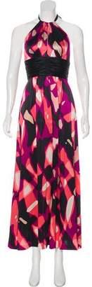 Trina Turk Halter Silk Dress
