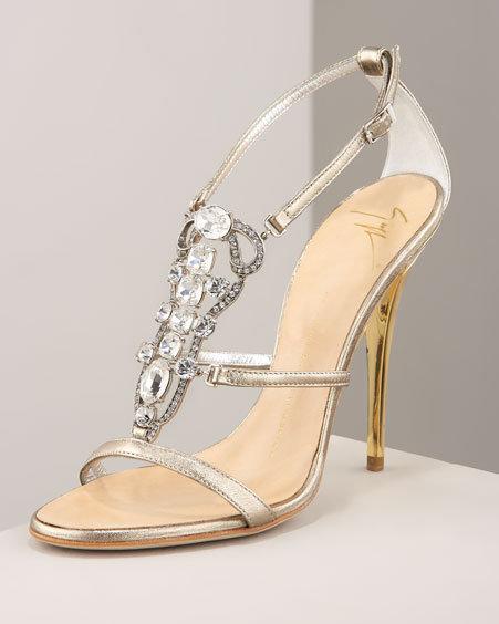 Giuseppe Zanotti Jeweled Strappy Sandal