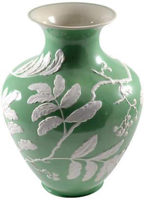 One Kings Lane Vintage Green Porcelain Baluster Vase