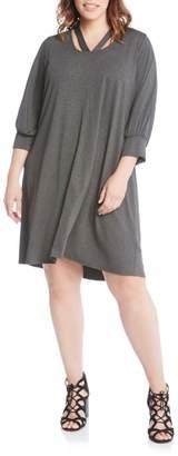Karen Kane Cross Front Jersey Shift Dress