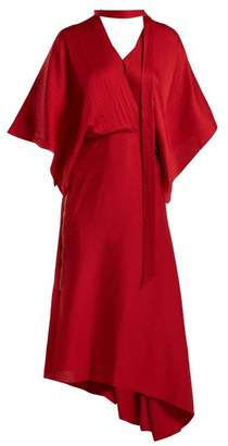 Roland Mouret Meyers Hammered Silk Dress - Womens - Red