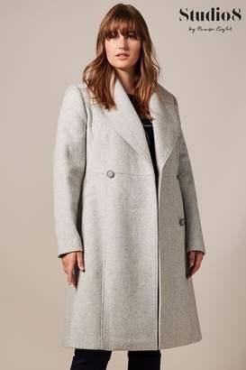 Studio 8 Womens Grey Ayda Wool Coat - Grey