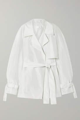 The Row Keera Belted Silk-taffeta Jacket - White