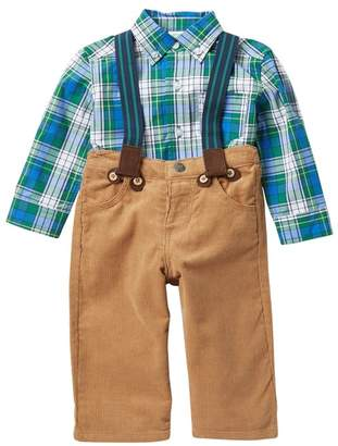 Little Me Woven Pants Suspender Set (Baby Boys)