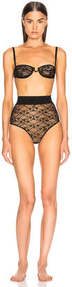 Off-White Off White Lace Romantic Lingerie in Black | FWRD