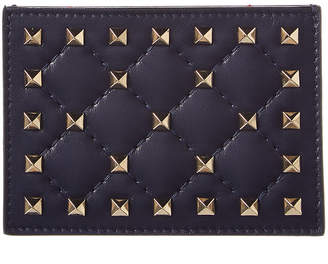 Valentino Rockstud Spike Leather Card Holder