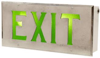 Rejuvenation Illuminuated Art Deco Exit Sign