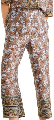 MANGO Paisley Printed Pants