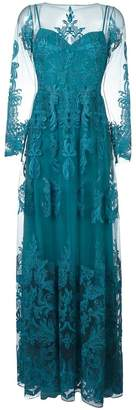 Murad Zuhair draped sheer maxi dress