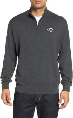 Cutter & Buck Los Angeles Rams - Lakemont Regular Fit Quarter Zip Sweater
