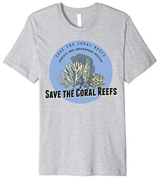 Mens Save the Coral Reefs T-Shirt - Endangered Species Tee Large