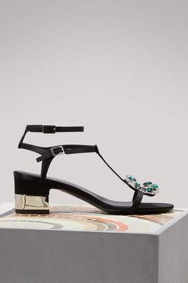 Roger Vivier Jewels crown high heel sandals