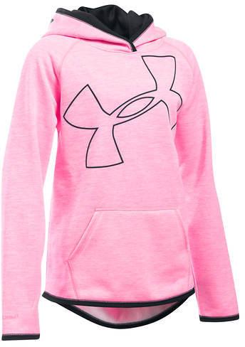 Under Armour Girls' Storm Armour Fleece Novelty Big Logo Hoodie
