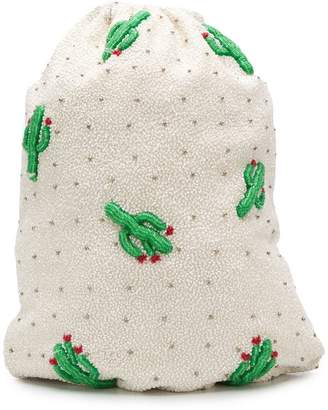Ganni Cactus bead embroidered bag
