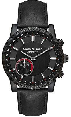 Michael Kors Men's 'Hutton Hybrid Smartwatch' Quartz Stainless Steel and Leather Casual Watch