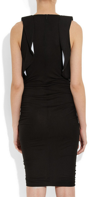 Givenchy Black and baby blue jersey sleeveless dress