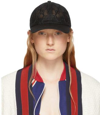 Gucci Black GG Embroidered Baseball Cap
