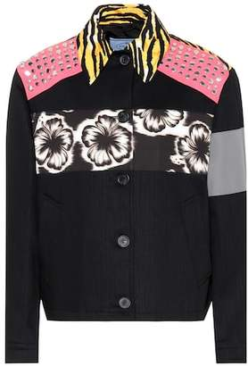 Prada Printed cotton jacket