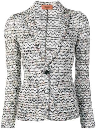 Missoni pattern knitted blazer