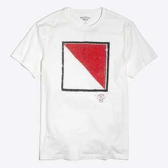 J.Crew Factory J.Crew Mercantile Broken-in nautical flag T-shirt