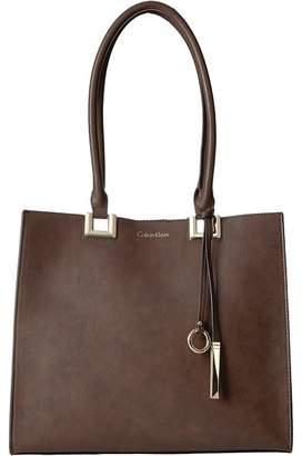Calvin Klein North/South Novelty Smooth Boxed Tote Tote Handbags