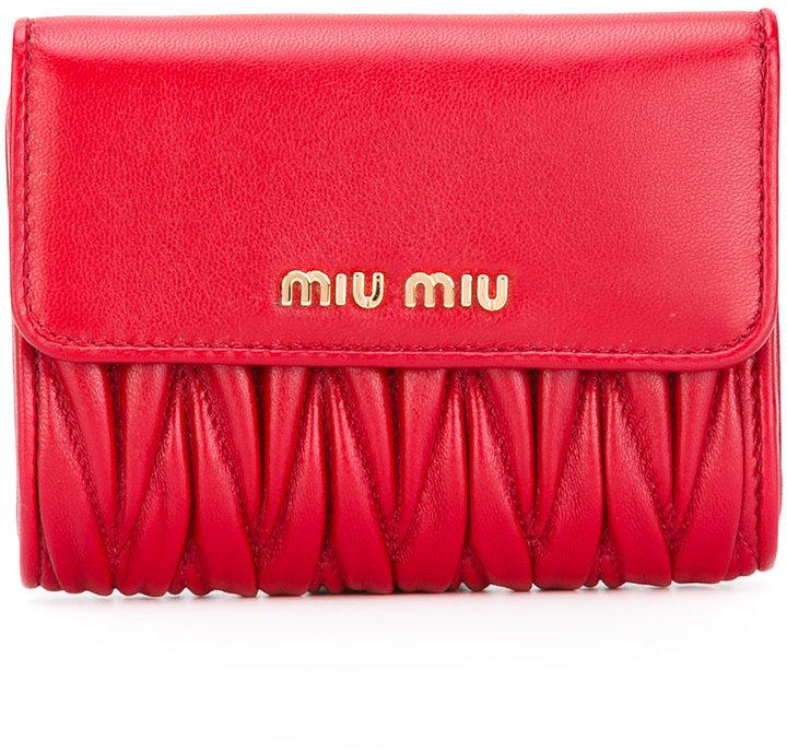 Miu MiuMiu Miu matelassé billfold coin purse