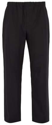 Lemaire Sunspel X Elasticated Waist Cotton Poplin Trousers - Mens - Black