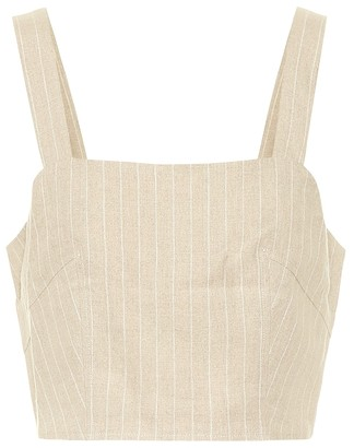 Racil Hedy cropped linen top