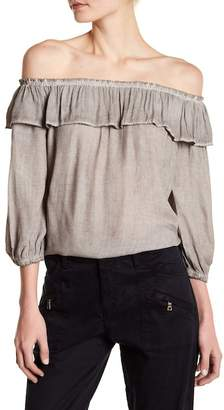 Young Fabulous & Broke YFB by Crane Ruffle Off-the-Shoulder Blouse
